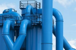 blue industrial pipes,